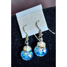 Aqua Blue Crystal earrings