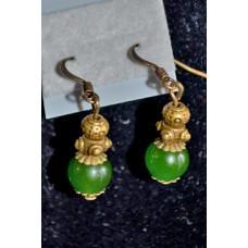 Africian Jade earrings (Semi Precious)